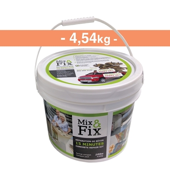 Kit de réparation de Béton MIX AND FIX 4.54kg