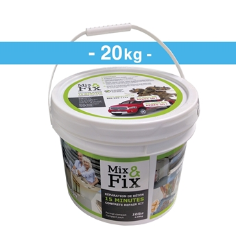 Kit de réparation de Béton MIX AND FIX 20kg