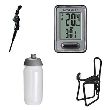 Ensemble d'accessoires pour vélo - spécial randonnée   béquille/porte-bouteille/bouteille/cyclomètre