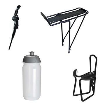 Ensemble d'accessoires pour vélo - spécial promenade   béquille/porte-bouteille/bouteille/porte-bagage