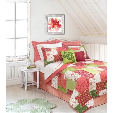 Ens. de courtepointe et couvre-oreillers imprimés Caroline | 60111.2T.24