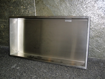 Niche en stainless horizontale 24'' x 12''