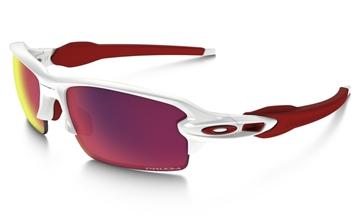 OAKLEY - Lunettes de soleil - FLAK 2.0 PRIZM ROAD - monture blanc/rouge