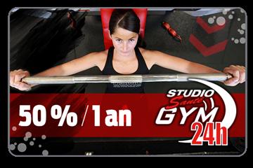 Payer 239.50$ pour un abonnement d'un an d'une valeur de 479$ chez Studio Santé Gym