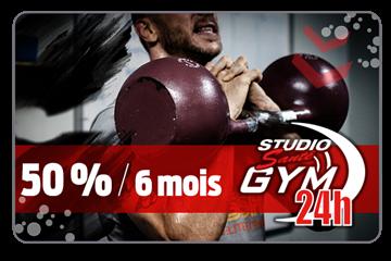Payer 169.50$ pour un abonnement de 6 mois d'une valeur de 339$ chez Studio Santé Gym