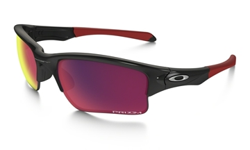 OAKLEY - Lunette de soleil - QUARTER JACKET - PRIZM ROAD - Youth - noir-rouge