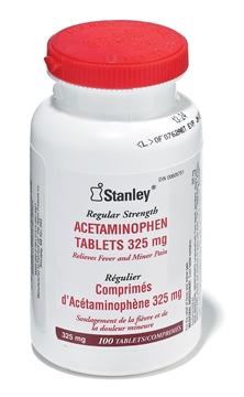 Image de Acetamenophène 325mgm (100/boîte) / DYNAMIC FAASA100