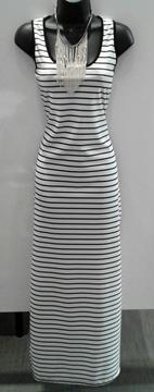 Image de Galaxy robe longue à rayures avec ouverture au dos