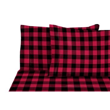 Drap flanelle à carreaux rouge/ noir