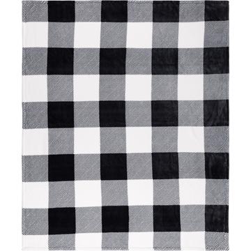 Image de Jetée en flanelle à carreaux noir / blanc