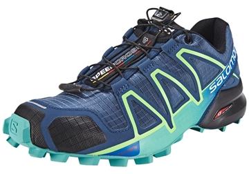 SALOMON - Chaussure de course en sentier - SPEEDCROSS 4 W - femme - bleu-vert