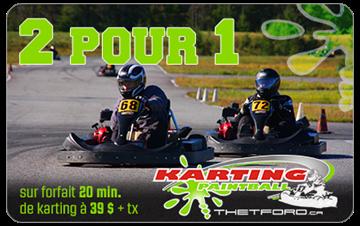 2 pour 1 sur 20 minutes de Karting 9 HP extrême chez Karting Paintball Thetford