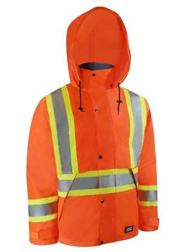 Image de Manteau en nylon avec bandes réfléchissantes