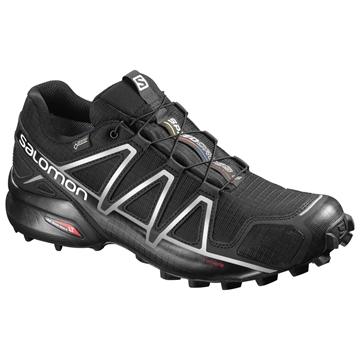 SALOMON - Chaussure de course en sentier - SPEEDCROSS 4 GTX - homme - noir/argent