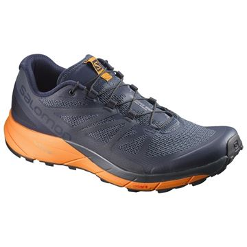 SALOMON - Chaussure de course en sentier - SENSE RIDE - homme - gris/orange