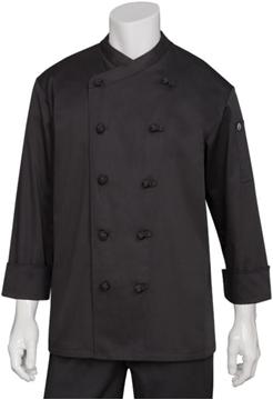 Image de Veste de cuisinier MONTPELLIER noire / CHERF WORKS COBL