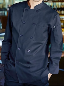 Image de Veste de cuisinier M/L navy / CHEF WORKS CCBA