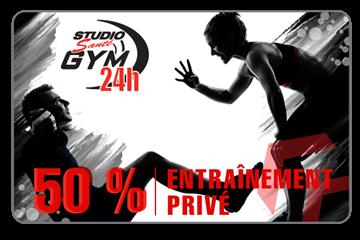 50% De Rabais Sur 12 Séances Privées + 1 Mois D'accès Chez Studio Santé Gym 24H