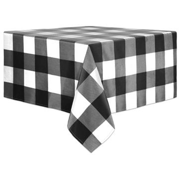 Image de Nappe à carreaux noir/blanc en tissus