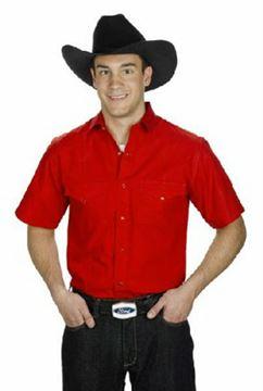 Chemise Western Rouge Coupe Classique Pour Homme