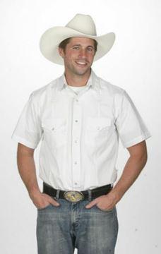 Chemise Western blanche coupe classique pour homme