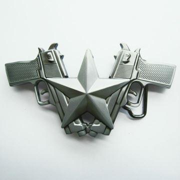 Boucle de ceinture Western fusil