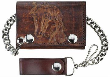 Porte feuille Western en cuir de belle qualité pour homme