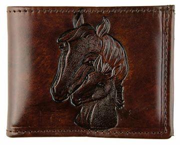 Porte feuille Western cheval en cuir de belle qualité pour homme