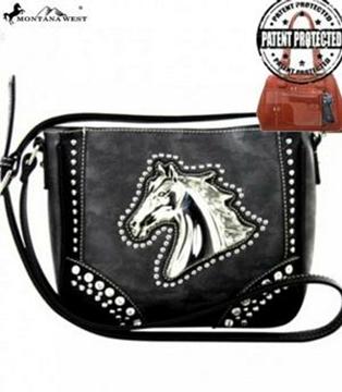 Sac à main Western en cuir PVC Montana West motif cheval pour femme