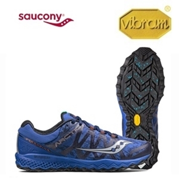 SAUCONY - Chaussure de course de route - PEREGRINE 7 ICE + - Hiver - Homme - Bleu