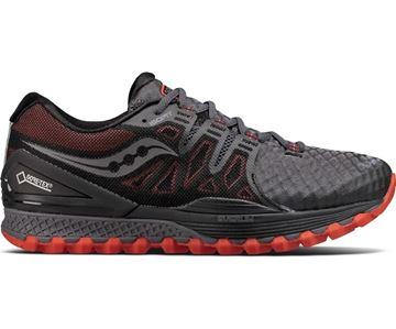 SAUCONY - Chaussure de course de route - XODUS ISO 2 GTX - Hiver - Femme - Noir-rouge