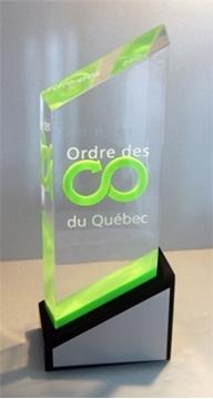 Image de Sur mesure - Trophée Acrylique - Ordre des conseillers et conseillères d'orientation du Québec