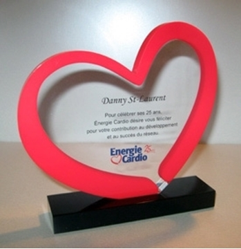 Image de Sur mesure - Trophée Acrylique - Énergie Cardio
