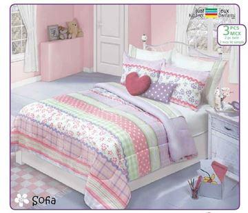 Ens. d'édredon imprimés Queen- Sofia   60517.3DQ.02
