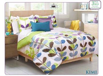 Ens. d'édredon et couvre-oreillers imprimés Kimi - Lit simple    60625.2T.19