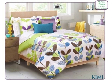 Ens. d'édredon et couvre-oreillers imprimés Kimi - Queen    60626.3DQ.19