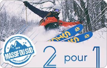 2 pour 1 Billet de ski 2017-18 Massif du Sud