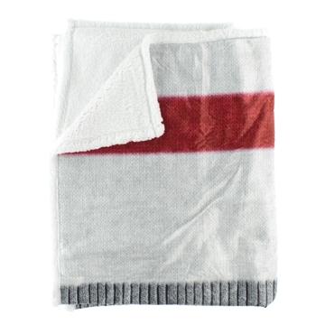 Image de Jeté en sherpa imitation bas de laine