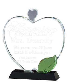 Image de Trophée  - Cristal - Pomme CRY412