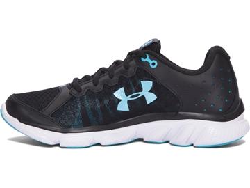 UNDER ARMOUR - Chaussures de course sur route - UA W MICRO G ASSERT 6 BLK/WHT/VEB - NOIR-BLEU-BLANC - femme