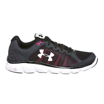 UNDER ARMOUR - Chaussures de course sur route - UA W MICRO G ASSERT 6 - NOIR-ROSE-BLANC - femme