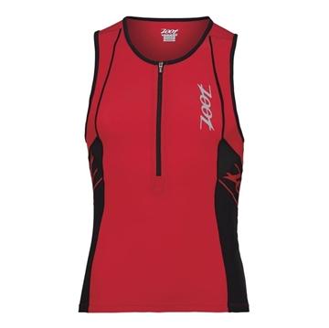 ZOOT - Camisole de triathlon - M performance Tri Tank - Homme - Rouge/Noir - Medium