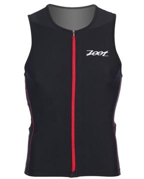 ZOOT - Camisole De Triathlon - M Performance FZ Tri Tank - Homme - Noir Avec Bandes Rouges - Medium