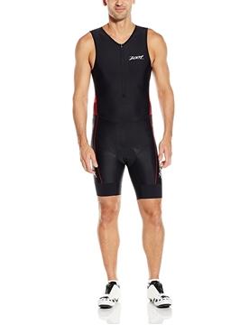 ZOOT - Combinaison De Triathlon - M Performance Tri Racesuit - Homme - Noir Avec Bandes Rouges - Large