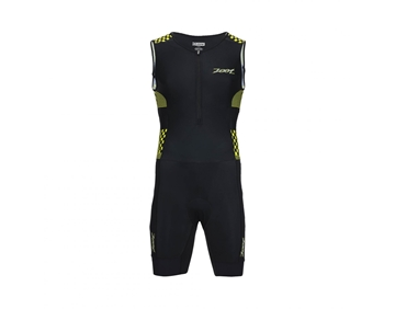 ZOOT - Combinaison de triathlon - M performance Tri racesuit - Homme - Noir et jaune - X-Large