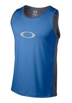 OAKLEY - Camisole de course - AGILITY TANK TOP 2.0 - Homme - Bleu - Small