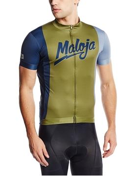 MALOJA - Maillot de vélo - Gary Shirt Short Sleeve Top 1/2 - Homme - Vert avocat - XLarge