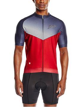 MALOJA - Maillot de vélo - Top White 1/2 Hank, Flame - Homme - Gris Rouge - Medium