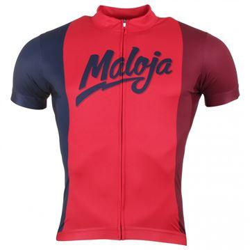MALOJA - Maillot de vélo - GaryM.Shirt 1/2 - Homme - Rouge Bleu - Large