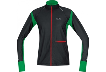 GORE - Manteau coupe vent - Gore Running Wear Air 2.0 WindStopper - Homme - Noir - Medium